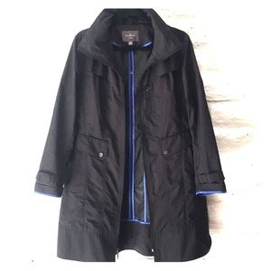 Cole Haan black trench rain jacket size M